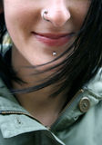 Smile with piercing Stock Photography