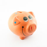 Smile Piggy Bank or money box Stock Photo