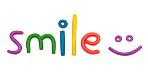 Smile plasticine figures Royalty Free Stock Images