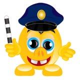 Smile police on white background Stock Photo