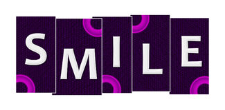 Smile Purple Pink Rings Stripes royalty free illustration