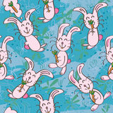 Smile Rabbit Cute Seamless Pattern_eps Stock Photos