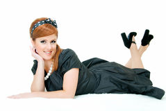 Smile of redheaded Royalty Free Stock Photos