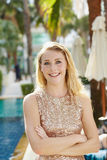 Smile in resort Royalty Free Stock Photography