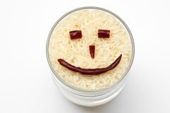 Smile rice Royalty Free Stock Photography