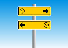 Smile road sign Stock Photo