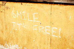 Smile, it's free Royalty Free Stock Photography