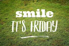 Smile it\'s Friday. Social media motivational banner royalty free stock photos