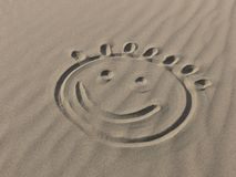 Smile on the sand Royalty Free Stock Images