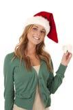 Smile Santa hat Stock Photo