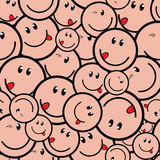 Smile seamless Stock Photography