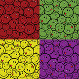 Smile seamless four color Stock Image