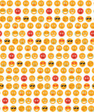 Smile seamless pattern. Emotions background. Yellow round emotion smiles seamless texture. Vector illustration Royalty Free Stock Photography