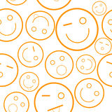 Smile seamless pattern Stock Image