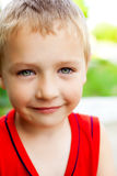 Smile of serene cute beautiful child Stock Photo