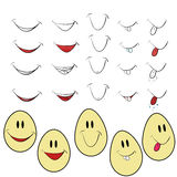 Smile. Set of icons of smiles and with persons Royalty Free Stock Image
