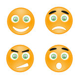 Smile. Set of smiles for websites and forums Royalty Free Stock Image