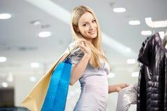 Smile in shop stock photos