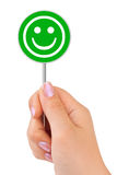 Smile sign in hand Royalty Free Stock Photo