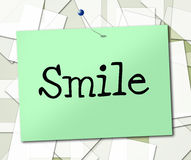 Smile Sign Indicates Signboard Emotions And Advertisement Stock Photo