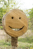 Smile sign on tree pit Royalty Free Stock Photography