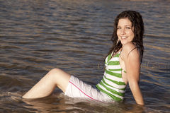 Smile sit water Stock Images