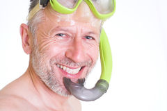 Smile of a skin diver Royalty Free Stock Photography