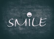 Smile smiling emotion happy people expression letterpress quote royalty free stock photography