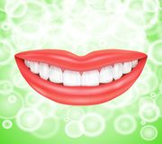 Smile. Smiling lips Royalty Free Stock Photography