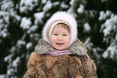 Smile in the snow Royalty Free Stock Image