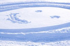 Smile on snow Stock Images