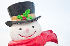 Smile of snowman Stock Photo