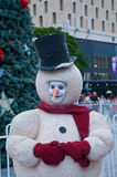 A Smile snowman in Brisbane city hall lightning up christmas tree Royalty Free Stock Photo