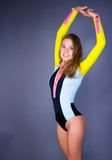 Smile sport girl posing Royalty Free Stock Image