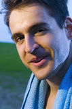 Smile of sportsman Stock Photo