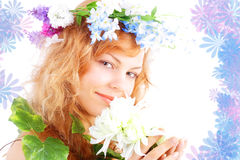 Smile of spring Stock Image