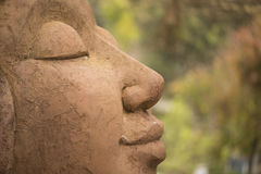 Smile statue. With amazing background Royalty Free Stock Photo