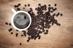 Smile steaming coffee Stock Images
