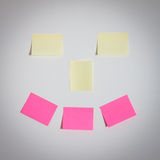 Smile stickers on the wall Royalty Free Stock Photography
