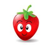 Smile Strawberry Cartoon. Happy smile cute strawberry cartoon Stock Photos