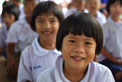 Smile students. Thai students smile in the school stock photo