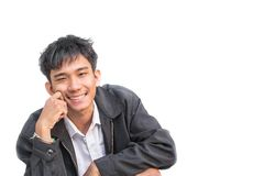 Smile Students Business, handsome man in success Smiling busine Stock Photography