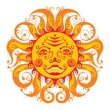 Smile sun. Image glad sun on white background Stock Photography