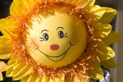 Smile of sun. Souvenier market Royalty Free Stock Image