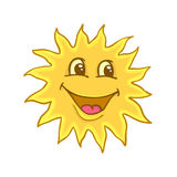 Smile of sun. Painted smile of sun,  illustration Royalty Free Stock Photo