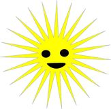 An illustration of the sun with odor. The smile of the sun that rises and rises and the beginning of the new day royalty free illustration
