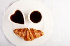 Smile for sweet breakfast with love Royalty Free Stock Image