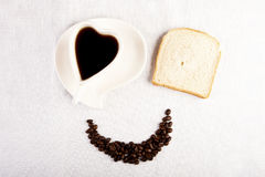 Smile for sweet breakfast with love Stock Image