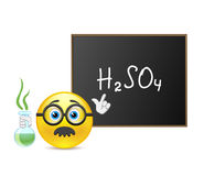 Smile teacher of chemistry Royalty Free Stock Image