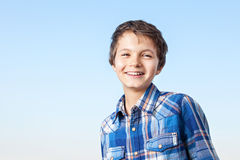 Smile. A teenage boy is giving a big smile Stock Photography